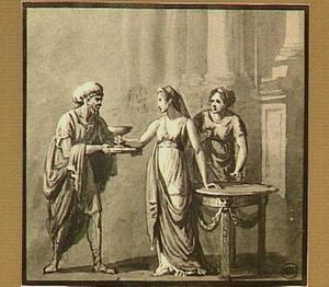 Sophonisba krijgt de gifbeker aangereikt (Livius 30:15)