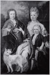 Portret van Aletta Meulenaar (1708-1728), Hendrik Muilman (1710-1728) en Willem Meulenaar (1714-1740)