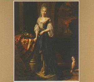 Portret van een vrouw in orientaalse kleding
