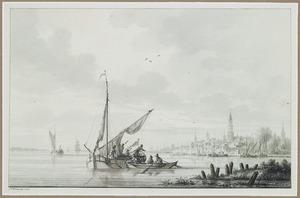 Boten op de rivier de Schelde voor Antwerpen