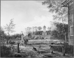 Gezicht op de achterzijde van de buitenplaats Goudestein aan de Vecht