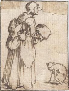 Oude vrouw en poepende cat