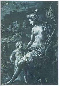 Venus troost haar zoon Cupido die door een bij is gestoken