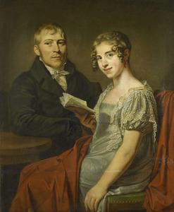 Dubbelportret van Hendrik Arend van den Brink (1782-1852) en Lucretia Johanna van de Poll (1790-1850)