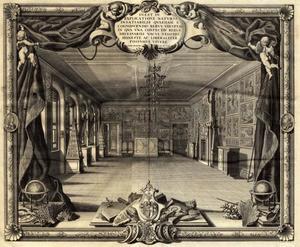 Titelpagina  van het 'Museum Richterianum' van Johann Ernst Hebenstreit van zijn verzameling naturalieën