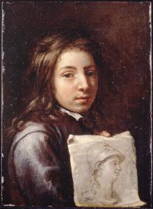 Portret van een onbekend jonge kunstenaar