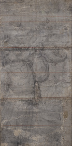 Een jonge ridder te paard, Afscheid van de heilige Gertrudis (?) (De vroege cartons, nr. 8)