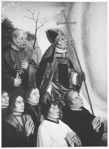 H. Petrus en een bisschop met stichters