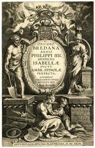 Titelpagina voor H. Hugo, Obsidio Bredana, Antwerpen 1626