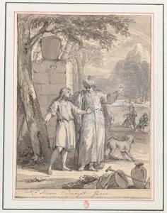 Abraham zegt Isaak zich gereed te maken om mee te gaan naar het offer in Moria (Genesis 22:3)