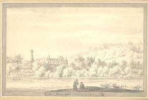 Kasteel Doorwerth anno 1640, gezien vanaf de Rijn