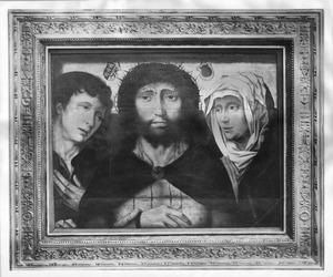 Christus met Johannes de Evangelist en Maria