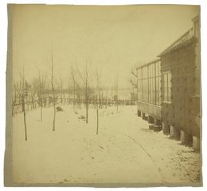 De tuin en het atelier van Anton Mauve te Laren in de winter