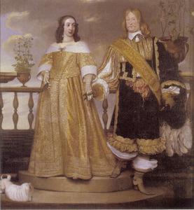 Portret van graaf Magnus Gabriel de la Gardie (1622-1686) en prinses Maria Eufrosina van Pfalz-Zweibrücken (prinses) (1625-1687)