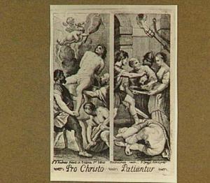 Marteldood van Johannes de Evangelist in kokende olie en Salomé met het hoofd van Johannes de Doper