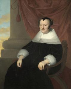 Portret van Getrud Meyer (....-1656)