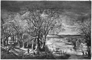 Winterlandschap met de abdij van Groenendael