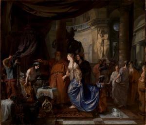 Koning Seleukos Nikator treedt af voor zijn zoon Antiochus en geeft hem zijn tweede gemalin Stratonike