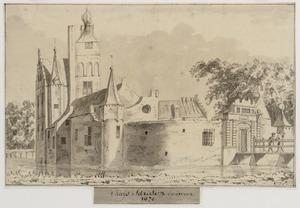 Linker- en voorzijde van Kasteel Adrichem Anno 1670