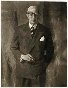 Portret van burgemeester J.W.P. van Doorn