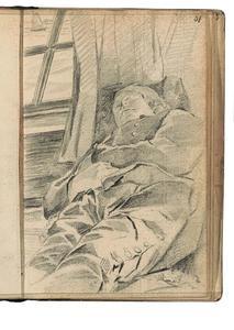Slapende man op een boot