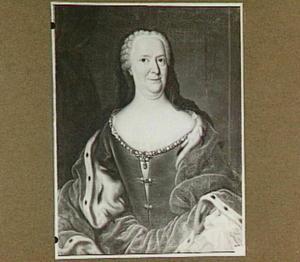 Portret van Marijke Meu van Hessen Cassel, weduwe van Johan Willem Friso, moeder van stadhouder Willem IV
