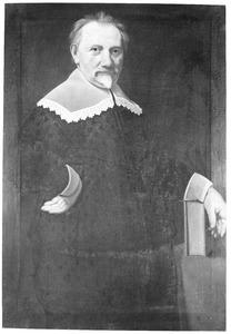 Portret van een man, genaamd Johan Heurnius (1606-1655)