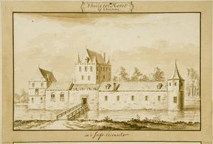 Voorzijde van Ter Horst bij Rhenen voor de afbraak in 1528