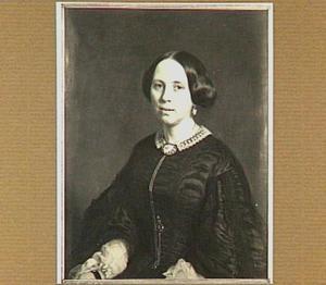 Portret van Johanna Constantia Vreede (1829-1897), vrouw van  Prof. mr. Otto van Rees (1825-1868)