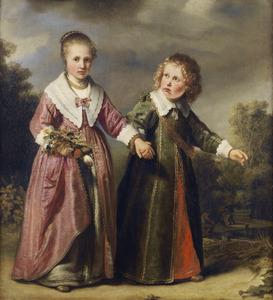 Dubbelportret van een onbekende jongen en onbekend meisje