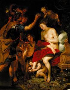 Alexander de Grote kroont de Baktrische prinses Roxane