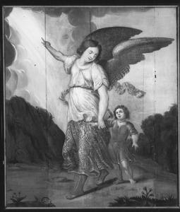 Een kind met zijn engelbewaarder
