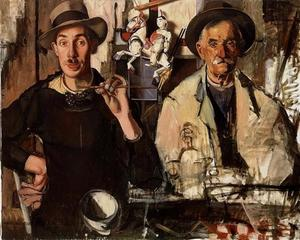 Dubbelportret van de schilder en zijn vader