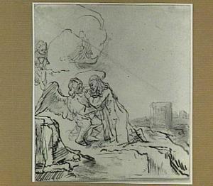 Christus getroost door de engel in de hof van olijven