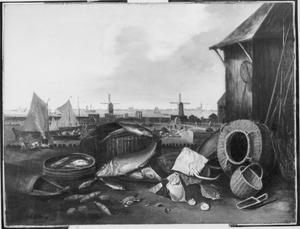 Visserijbedrijf op de Grashaven te Hoorn