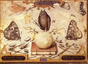 Allegorie op de vriendschap met Abraham Ortelius