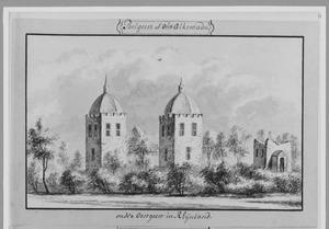 Overblijfselen van Oud-Poelgeest (ook wel Alkemade) bij Oegstgeest
