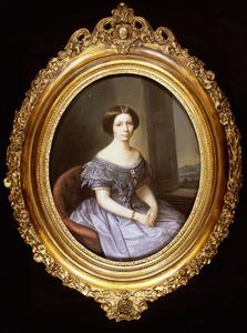 Portret van Carolina Wilhelmina van Loon (1833-1899)