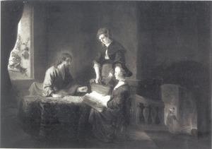 Christus in het huis van Martha en Maria (Lucas 10: 38-42)