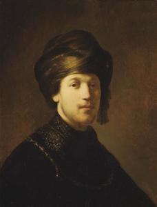 Borststuk van een jongeman met tulband