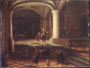 Interieur van een kerker met ongeïdentificeerde scène