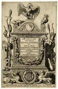 Titelpagina voor H. Goltzius, Graeciae Universae Asiaeque Minoris Et Insularum Nomismata, Antwerpen 1618