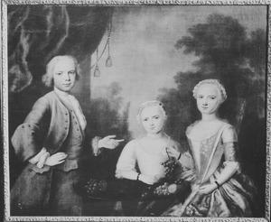 Groepsportret, mogelijk kinderen van Balthasar Nolthenius (1701-1755) en Johanna Boel (1697-1768)