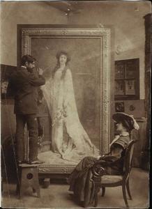 Auguste Leroux in zijn atelier