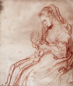 Jonge wenende vrouw