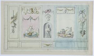 Voorbeelden van wanddecoraties met een beeld in een nis