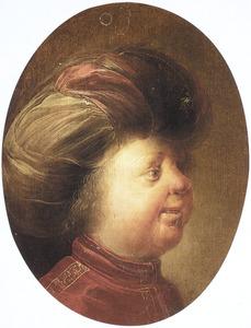 Portret van een onbekende jongn met een tulband