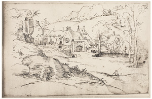 Klooster in een heuvellandschap