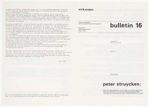 Art & Project Bulletin #16