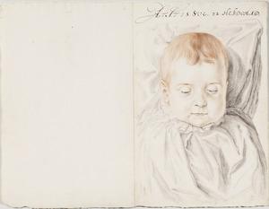 Portret van een kind, 32 weken oud